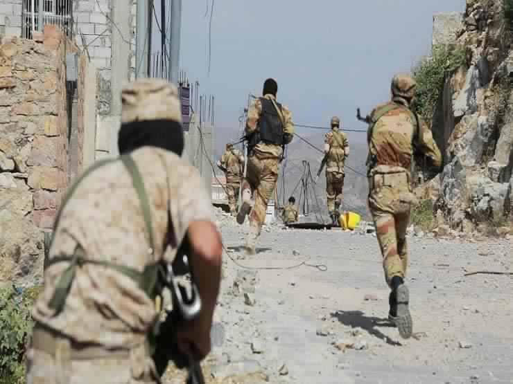 عناصر من القوات اليمنية