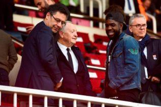 أومتيتى مع رئيس برشلونة